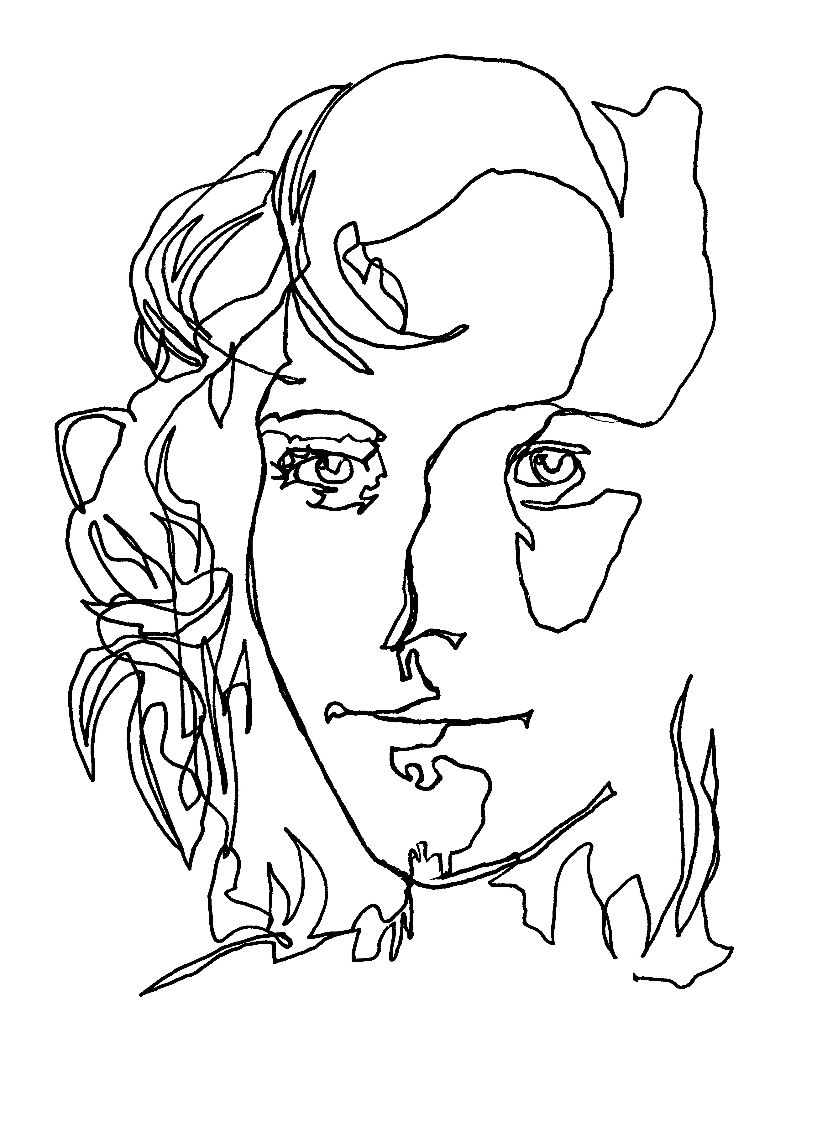 Philip Firsov Mother one-line-drawing 2000.jpg