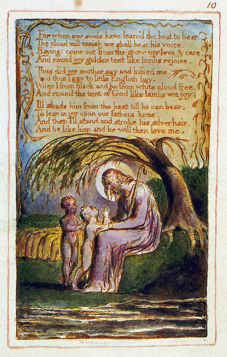 william blake in contrast of songs