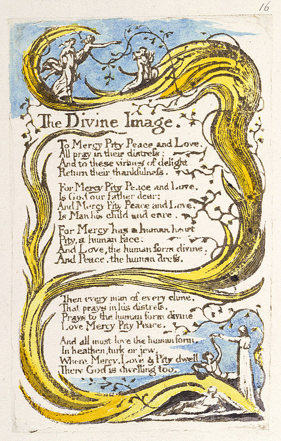 the use of literary techniques in the portrayal of god in william blakes poem the divine image One can not analyse a poem by william blake god to a life of sin are covered in that sin and completely lost literary devices the little boy lost is a.