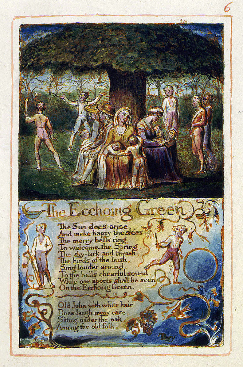 the idea of human growth in the ecchoing green and the garden of love by william blake A short analysis of william blake's 'the garden of this idea of love starting out as a land of liberty turn the world from a garden (symbolising growth.